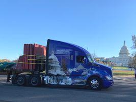 The Apex Transportation Kenworth T680 arrives in Washington, D.C.