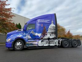 Apex Transportation unveiled a special paint scheme on the Kenworth T680 selected for the...