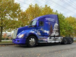 The Apex Transportation Kenworth T680 awaits its next load in the nation's capitol.