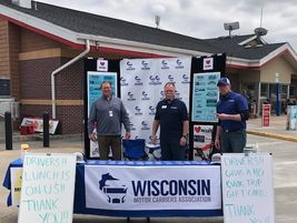 The Wisconsin Motor Carriers Association hosted a ThankATrucker fundraiser to thank truck...