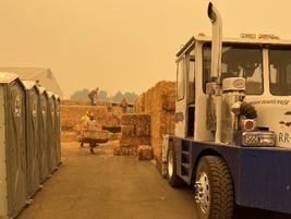 Boshart Trucking of Tangent, Oregon, assisted its local community during the wildfires that...
