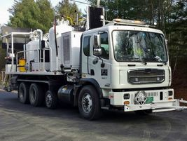Autocar today: The ACMD is a Class 7 truck. Shown is a paint striper, but each ACMD can be...