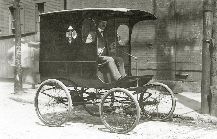 The Autocar delivery wagon, circa 1899, boasted a payload capacity of 700 pounds and optional 5...