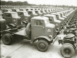 Autocar supplied over 37,000 armored half-trucks, all-wheel-drive prime movers, and standard...