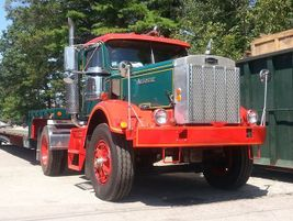 Old Autocars are lovingly restored by antique truck enthusiasts.