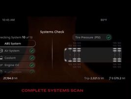 The New Model 579's Digital Display's System Check feature checks 13 critical vehicle systems as...