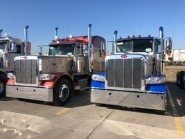 Large bumpers, loads of chrome and tall stacks are still Peterbilt calling cards.