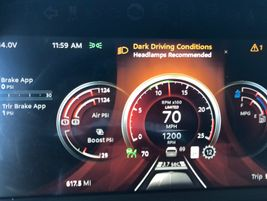 An expanded view of the new Digital Display screen shows the variety of information drivers can...