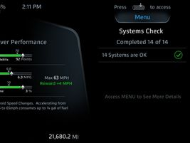 The digital display allows drivers to do a systems check to help with pre-trip inspections.