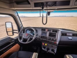 Kenworth made changes to the interior, with new colors.