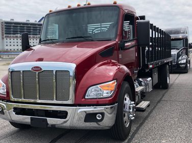 At the Texas Motor Speedway outside of Dallas on April 21, 2021, Peterbilt hosted a day of...