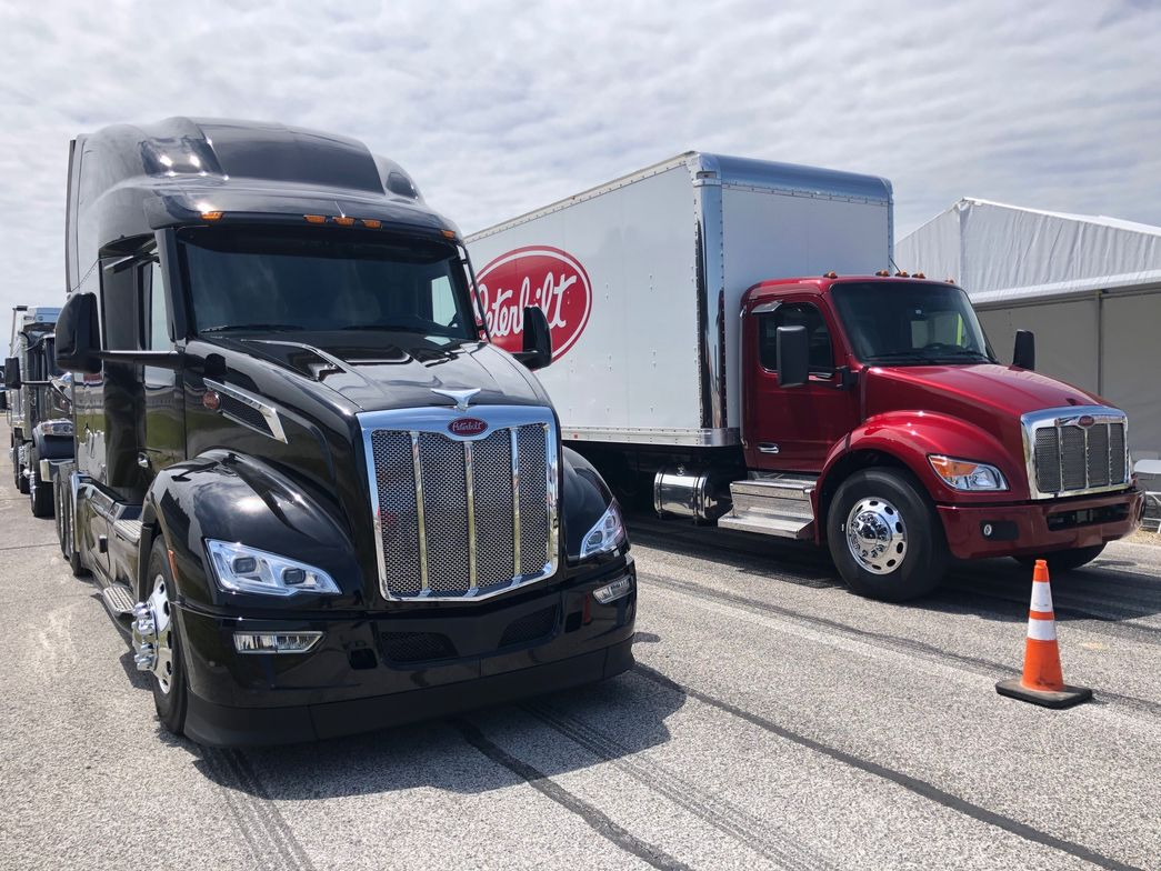 Naturally Peterbilt had an example of its new model 579 tractor on hand for test drives as well.