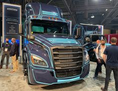 Freightliner showed off its eCascadia.