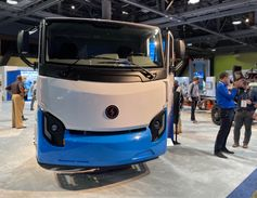 Lion Electric showed off its battery-electric truck at ACT Expo.