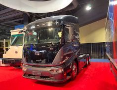 BYD unveiled two third-generation electric trucks. Shown is the Class 8 Gen3 8TT.