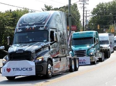 Ride of Pride trucks are built by Freightlner to recognize military veterans.