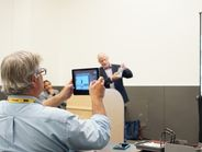 HDT's Senior Contributing Editor Jack Roberts live tweeting product presentations during press...