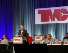 American Trucking Associations President Chris Spear speaking at TMC's Fall Meeting duringthe...