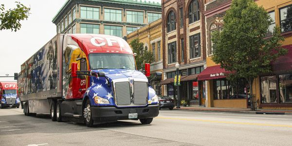 Trucks with striking graphics are great for use in community parades.