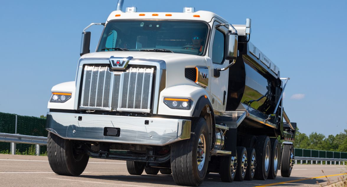 The Western Star 47X is 10 inches shorter and 200 pounds lighter—spec-for-spec — than the 49X.