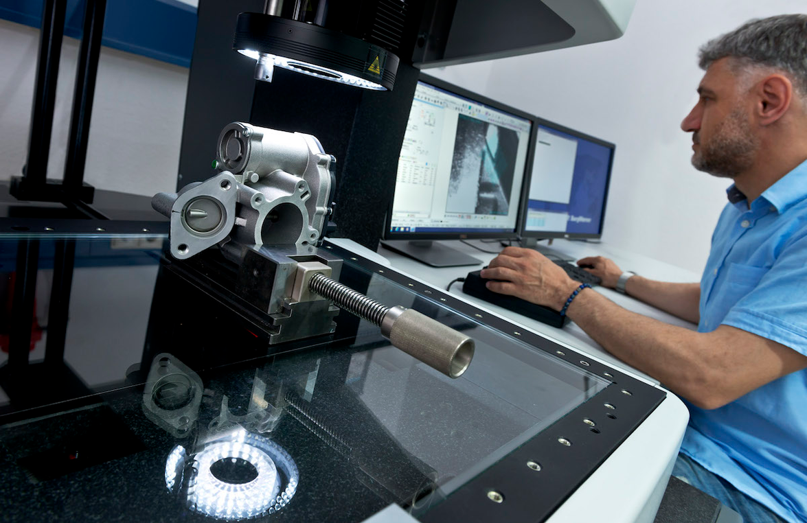 An EGR valve is tested as part of the remanufacturing process.
