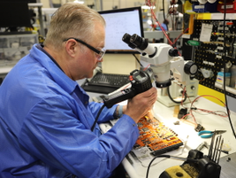 A great deal of care must be taken when working with circuit boards during the reman process.