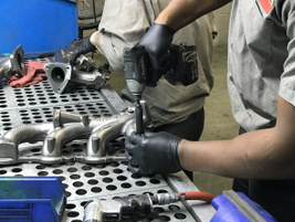 Products are dissembled and inspected to determine their condition.