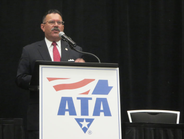Ray Martinez, Federal Motor Carrier Safety Administrator, stressed safety and collaboration with...