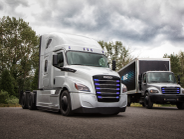 Freightliner is testing its eCascadia and eM2 with fleets later this year.