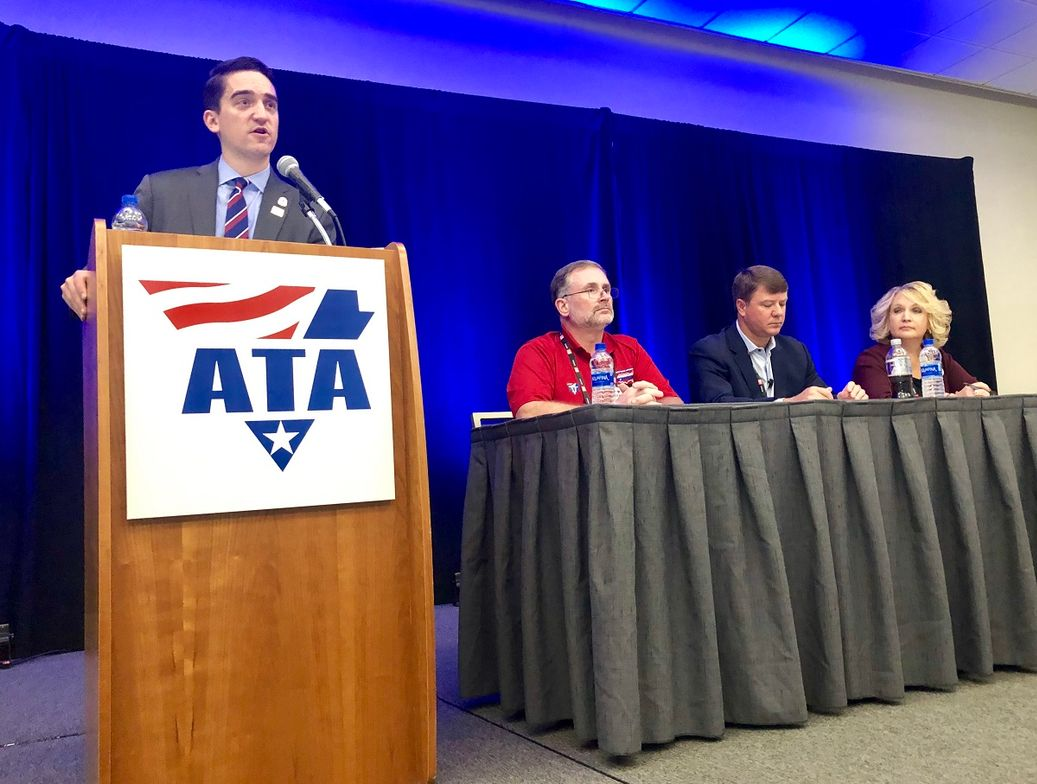 Dan Horvath, ATA's director of safety policy, kicking off a panel discussion on how best to...
