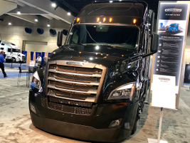 Freightliner showed off this striking version of its Cascadia Class 8 flagship.