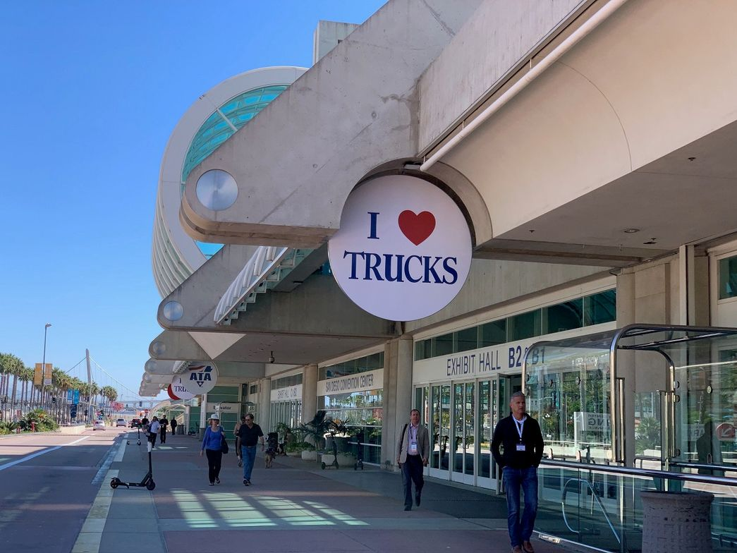 Exterior of the San Diego Convention Center during MC&E.