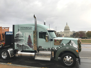 The Capitol Christmas tree finally arrived in Washington, D.C., after traveling 2,170 miles...