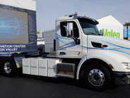 Peterbilt's Model 579EV is powered by lithium nickel manganese cobalt batteries with 320 kWh...