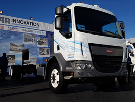 Peterbilt's Model 220EV has a GVWR of 26,000 pounds and is driven by a 250 kW motor. It has an...