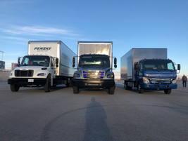Daimler's Innovation Fleet included battery electric versions of the M2, Fuso Canter and...