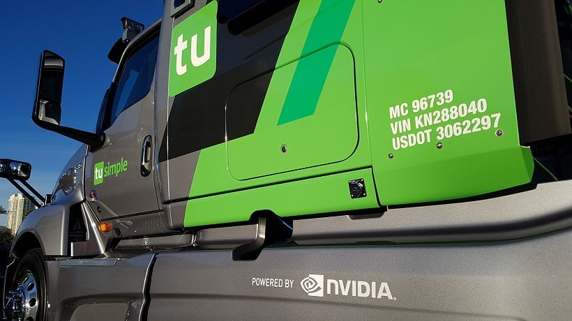 TuSimple says its autonomous truck is capable of navigating secondary roads and making left...