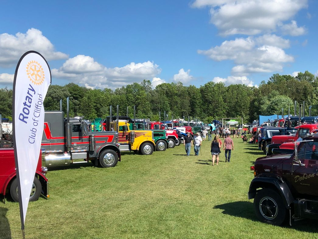There were as many old-timers as old trucks at the Antique and Classic Truck Show, Clifford,...