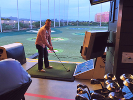 The Top Golf event gave attendees some time to unwind after a day full of informative meetings...