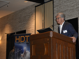 HDT Publisher David Moniz welcomes the attendees to the 2019 event.