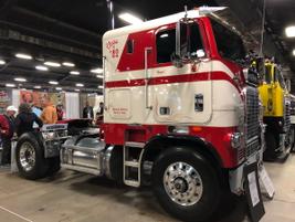 1982 Freightliner FLT owned by Mark Holland of Lexington, Ky.  Detroit 6V92 engine, Eaton...