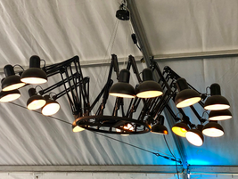 Don't look up. It's not a drone, but what happens when desk lamps gang up and take flight.