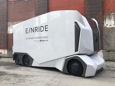 The first eye-grabber at the third edition of the Movin' On Summit: Sweden-based Einride's T/Pod...