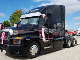 The Mack Anthem loaned to Team OBAC by the Vision Truck Group in Cambridge, Ontario.