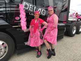 Yes, that's HDT Equipment Editor, Jim Park (the taller one) dressed a fine pink ensemble, along...
