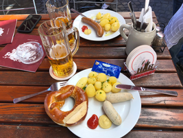If it's Germany and a Continental press briefing, you know it's going to include good Bavarian...