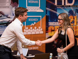 Suppliers were given time to meet one on one with fleet managers, including HDT Truck Fleet...