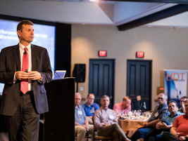 Jeff Sass, senior vice president, sales and marketing for Navistar, was the kickoff speaker who...