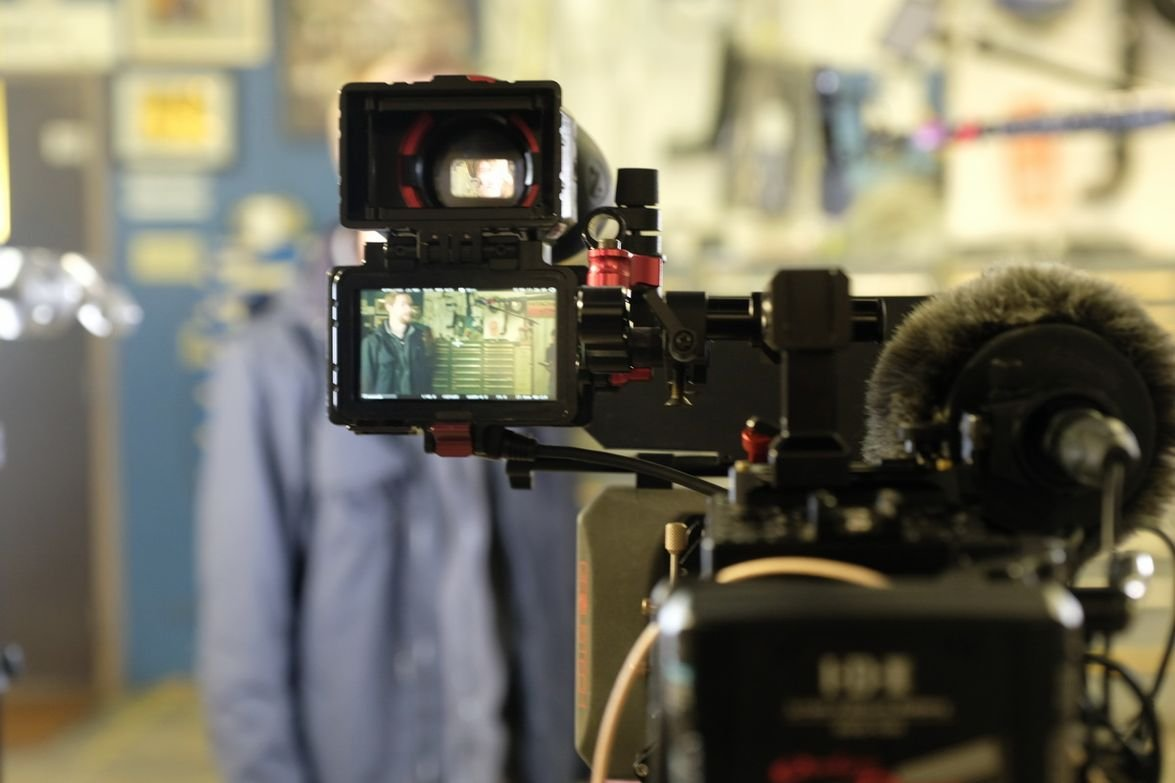 The film crew includes six specialists, from camera and audio technicians to drone pilots and...