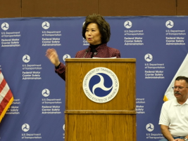 Transportation Secretary Elaine Chao told attendees that DOT had sent a proposed rule to the...